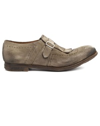 Churchs Shangai Vintage Suede Beige Brogue Shoes