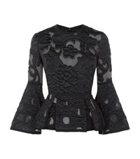 Elie Saab Textured Peplum Top Female Black