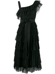 Red Valentino Layered Frill Dress Black