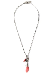 Gem Kingdom Hand Pendant Necklace Red