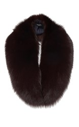 Yves Salomon Paris Fox Fur Collar Burgundy