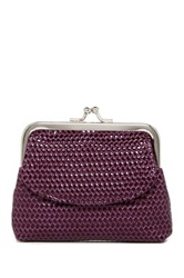 Mundi Kiss Lock Coin Pouch Purple