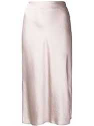 Alexander Wang T By Wash And Go Midi Skirt Pink And Purple