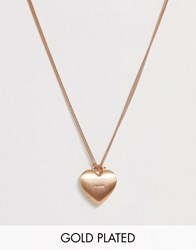 Pilgrim Rose Gold Plated Heart Pendant Necklace