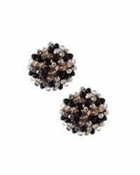 Emily And Ashley Crystal Beaded Stud Earrings Black