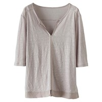 Poetry Silk Trim Jersey Tunic Top Pearl