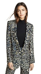 Smythe Long Notched Shawl Blazer Camo Print