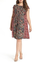 Lucky Brand Plus Size Women's Mixed Floral Print Dress Multi