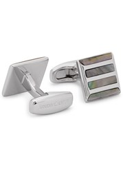 Simon Carter Silver Tone Square Cufflinks Grey