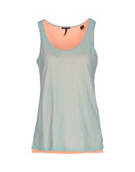 Maison Scotch Tank Tops Turquoise