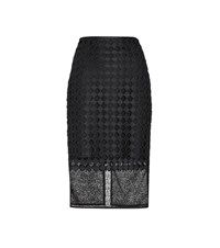 Diane Von Furstenberg Layered Lace Pencil Skirt Black
