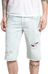 True Religion Big And Tall Brand Jeans Ricky Relaxed Fit Shorts Eqll Torn Optic
