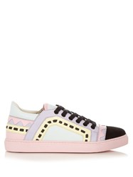 Sophia Webster Riko Low Top Leather Panel Trainers Multi