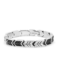 David Yurman Chevron Woven Bracelet With Black Onyx No Color