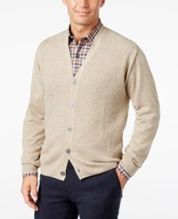 Weatherproof Vintage Men's Big And Tall Textured Cardigan Only At Macy's Oat Marl