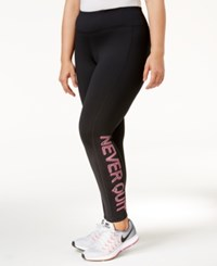 Ideology Plus Size Graphic Leggings Only At Macy's Noir
