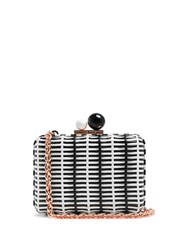 Sophia Webster Vivi Woven Cross Body Bag Black White