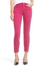 Petite Women's Nydj 'Clarissa' Colored Stretch Skinny Ankle Jeans Vivid Raspberry