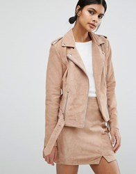 Y.A.S Gwen Suede Jacket Rose Tan