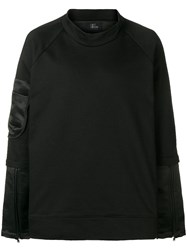 Lost And Found Ria Dunn Layered Bomber Sweatshirt Black
