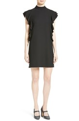 Kate Spade Women's Space New York Flutter Sleeve Satin Crepe Shift Dress