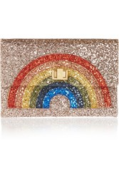 Anya Hindmarch Valorie Glitter Finished Canvas Clutch