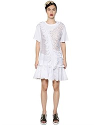 Antonio Marras Cotton Sangallo Lace And Jersey Dress