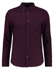 Burton Menswear London Shirt Burgundy Bordeaux