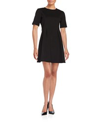 Helene Berman Seamed Fit And Flare Dress Black