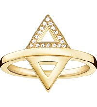 Thomas Sabo Triangle 18Ct Yellow Gold Plated Diamond Ring