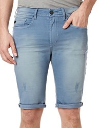 Buffalo David Bitton Parker X Distressed Fold Over Cuff Shorts Mirage