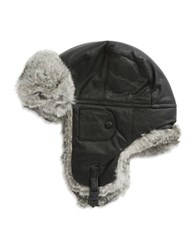 Crown Cap Faux Fur Trimmed Ski Hat Black