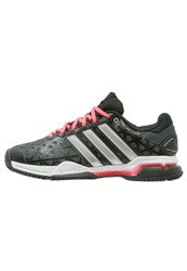Adidas Performance Barricade Club Outdoor Tennis Shoes Core Black Silver Metallic Flash Red