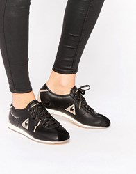 Le Coq Sportif Black And Gold Wendon Trainers Black