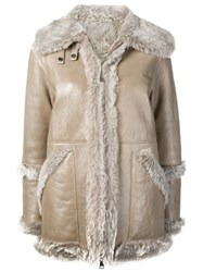 Manzoni 24 Shearling Jacket Neutrals