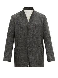Sasquatchfabrix. Sasquatchfabrix Sculpted Lapel Linen Blend Jacket Grey