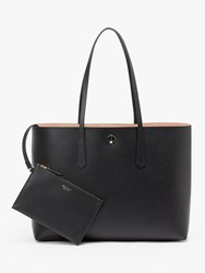Kate Spade New York Molly Leather Large Tote Bag Black