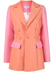 Dice Kayek Two Tone Fitted Blazer Pink