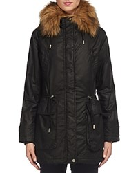 Whistles Harley Faux Fur Trim Parka Black