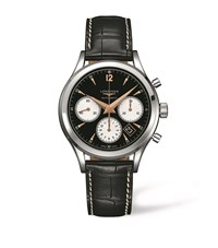 Longines Heritage Chronograph Watch Unisex Black