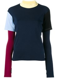 Jacquemus Colour Block Layered T Shirt Blue