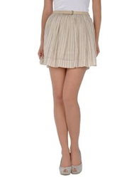 Guess Mini Skirts Beige