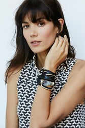 Taylor And Tessier Baton Leather Wrap Cuff