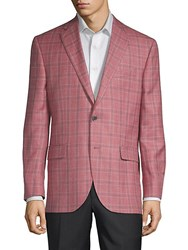 Jack Victor Conway Plaid Sportcoat Salmon