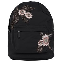 French Connection Anye Embroidered Backpack Black