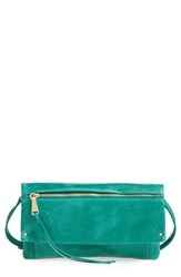 Hobo Rudy Leather Crossbody Bag Green Teal Green