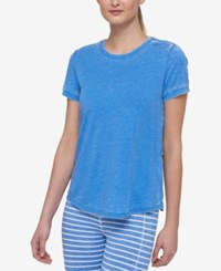 Tommy Hilfiger Sport High Low Cutout T Shirt A Macy's Exclusive Electric Blue