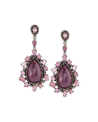 Bavna Ruby Pink Sapphire And Diamond Double