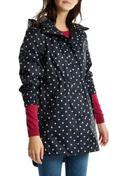 Joules Packaway Waterproof Rain Coat Navy Spot