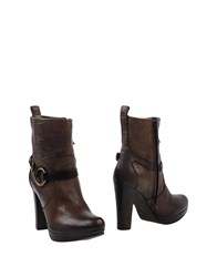 Henry Beguelin Ankle Boots Dark Brown